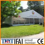 Baldacchino trasparente della tenda della festa nuziale della tenda foranea del giardino