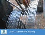 Rete fissa saldata del filo del rasoio ricoperta PVC
