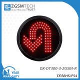 Girare intorno all'indicatore luminoso del segnale stradale di girata di U per il diametro 300mm di colore rosso del rimontaggio 12 pollici