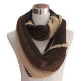 Acrylic Knitted Infinity Scarf (YKY4196-1)方法女性