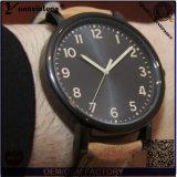 Relógio quente do relógio redondo ocasional novo dos homens da cinta de couro do seletor da forma Yxl-749 2015, relógio de pulso disponível do logotipo feito sob encomenda
