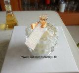 Tarros de cristal blancos hechos a mano exquisitos para las velas