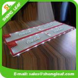 Couvre-tapis en caoutchouc mou de barre de PVC de dispositif trembleur fait sur commande de mode pour la promotion