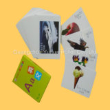 Tarjetas educativas modificadas para requisitos particulares de la tarjeta de juego del diseño para los cabritos