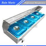 4 het panCountertop Commerciële Verwarmingstoestel van het Voedsel Bain Maries - de Pannen van 1/2 GN
