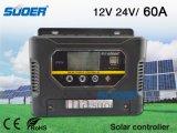 Regolatore astuto solare solare del regolatore PWM di energia solare del regolatore 12V 60A di Suoer con l'alta qualità (ST-W1260)