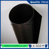 Folha rígida preta do PVC para o plástico industrial de Engneering