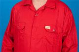 da segurança longa da luva de 65%P 35%C Workwear barato elevado da combinação de Quolity (BLY1019)