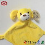 Gelbe Säuglingsqualitäts-kleine quadratische Baby-Sorgfalt-Decke