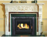 Hot New Cream Beige Marbre Surround Stone Fireplace