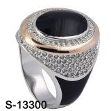 Caldo-Vendita dell'anello dell'uomo dello smalto dei monili dell'argento sterlina 925