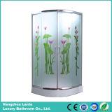 Sitio de ducha simple de la esquina del vidrio Tempered (LTS-825E)