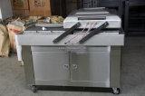 Máquina de embalagem de nivelamento do vácuo do alimento do gás dobro do nitrogênio da câmara
