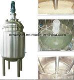 Misturador de mistura do champô da pintura da solução do açúcar do misturador da máquina de mistura do petróleo do tanque da emulsificação da camisa de aço inoxidável do Pl