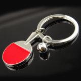 Neues kundenspezifisches Metall Sports Ping-Pongschlüsselkette