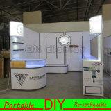 Visualizzazione illuminata della fiera commerciale della cabina modulare portatile su ordinazione di mostra