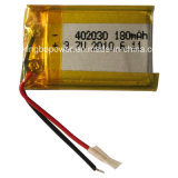 180mAh 3.7V Li-Polymer Rechargeable Battery für tragbares Product