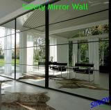二重上塗を施してある、灰色のペンキアルミニウムミラー、アルミニウムミラーガラス