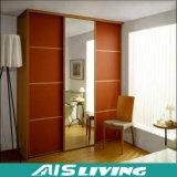 De Kast van de Garderobe van de Muur van de slaapkamer met het Ontwerp van de Spiegel (ais-W048)