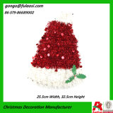 De Decoratie van Kerstmis van Hoed door de Slinger die van het Klatergoud wordt gemaakt