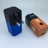 Banque de puissance de la batterie 2600mAh de Li-ion de Powerbank de prise mini avec l'adapteur de mur