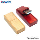 Movimentação de madeira do flash do USB do presente da promoção