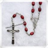 Деревянное ожерелье шарика Rosary/деревянный браслет Rosary шариков/деревянные ожерелья Rosary (IO-cr013)