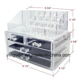 Оптовый акриловый устроитель индикации хранения ювелирных изделий & косметики 2 установленной части
