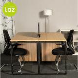 Mesa de escritório de madeira moderna para a mesa reta do computador de 6 equipes de funcionários