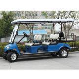電気ゴルフ車6の乗客のカート電気旅行の手段(DEL3062G、6-Seater)