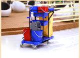 プラスチック多機能のクリーニングのトロリー管理人のカート(FW-173)