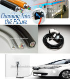TUV Approved EV Cable met Control Core, Cable voor Electric Vehicle Conductive Charging System, Copper Wire Braided EV Cable
