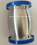 38mm 304 Sanitaria inoxidable Tipo de bola de acero de triple abrazadera de la válvula de retención de la leche