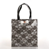2개 크기는 검게 한다 형식 레이스 꽃 쇼핑 백 핸드백 (T043)를