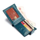 Бумажник кожи масла зерна высокого качества верхний для бумажника неподдельной кожи людей с пряжкой