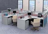 ハングのキャビネット(SZ-WST611)を持つ4人のための中国のオフィスワークステーション