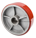 Vente chaude 100x80mm PU et nylon élévateur roue pour industrielle