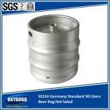 Padrão de SUS316 Alemanha 30 litros de barril de cerveja Saled quente