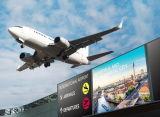 Afficheur LED visuel polychrome d'intérieur P2.5 de HD grand pour l'aéroport