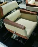 Adjustable Headrest (MY-008-03 기대기)를 가진 나무로 되는 Armrest Barber Chair