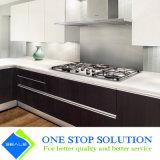 Armadio da cucina della mobilia dell'armadietto di rivestimento della lacca di lucentezza di colore del caffè alto (ZY 1145)