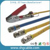 Connecteur de compactage de F pour le câble coaxial de liaison Rg59 RG6 Rg11 de rf