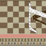 100%Polyester o logotipo Pigment&Disperse imprimiu a tela para o jogo do fundamento