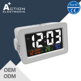 Pantalla LED de color Tabla reloj despertador digital con cargador USB