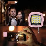 携帯用小型16のLED Selfieのフラッシュは携帯電話のためのライトを記入する