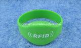 HF RFID/NFC Identifikation bricht wasserdichte ArmbandWristbands des Silikon-Ntag213 ab