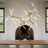 Indicatore luminoso italiano del pendente della filiale del ristorante LED di arte del lampadario a bracci di Metal&Glass di stile