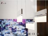 Lámpara colgante de cristal LED con hierro para el hogar