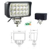 사각 45W 도로 떨어져 차와 트럭 작동 빛을%s 자동 LED 일 빛 12V 24V Epistar 높은 루멘은 IP67 LED 빛을 방수 처리한다