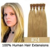 "16 "" - 26 "" Pre Bonded 6A quality Straight 100% Remi Hair Extension"